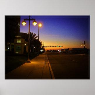 Daytona Beach Shores at Sunrise in Front of Ocean Poster