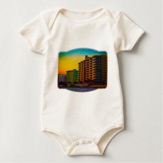 Daytona Beach Shores Coastal Resorts Framed Art Baby Bodysuit