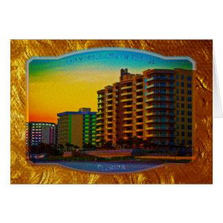 Daytona Beach Shores Coastal Resorts Framed Art Card