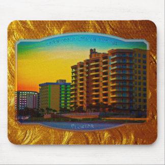 Daytona Beach Shores Coastal Resorts Framed Art Mouse Pad