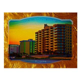 Daytona Beach Shores Coastal Resorts Framed Art Postcard