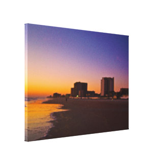 Daytona Beach Shores From East to West on Beach Canvas Print
