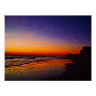 Daytona Beach Shores From East to West on Beach II Poster