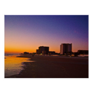 Daytona Beach Shores From East to West on Beach Poster