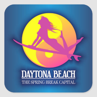 Daytona Beach (Spring Break Capital) Square Sticker