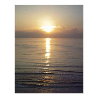 Daytona Beach sunrise Custom Letterhead