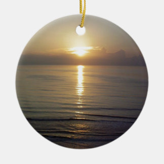 Daytona Beach sunrise Christmas Ornaments