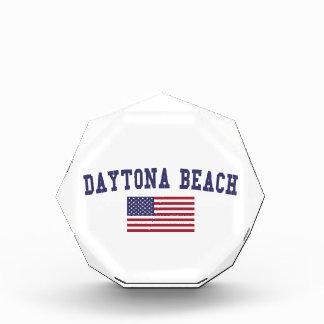 Daytona Beach US Flag Acrylic Award