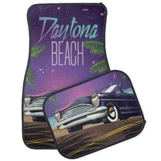 Daytona Beach Vintage Car Travel poster Car Mat