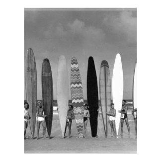 Daytona Beach Vintage long board Surf Group Photo Letterhead Template