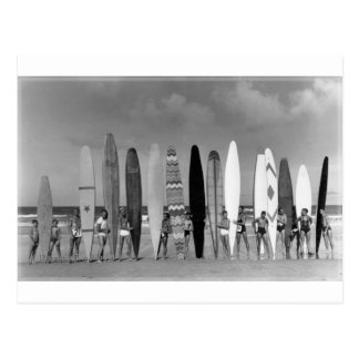 Daytona Beach Vintage long board Surf Group Photo Postcard