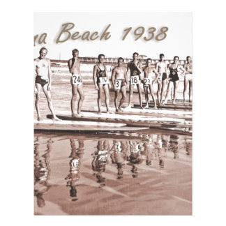 Daytona Beach Vintage Surf Group Photo Custom Letterhead