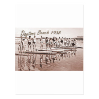 Daytona Beach Vintage Surf Group Photo Postcard