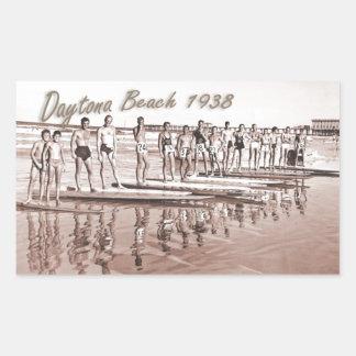 Daytona Beach Vintage Surf Group Photo Rectangular Sticker