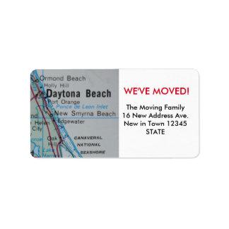 Daytona Beach We've Moved label