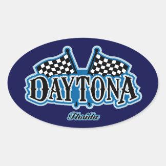 Daytona Flagged Oval Sticker