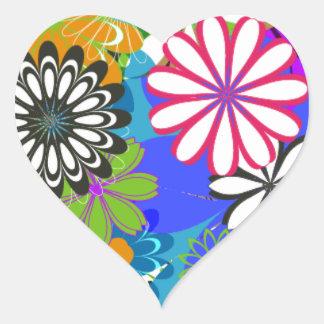 Daytona Flower Heart Sticker