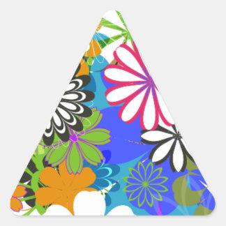 Daytona Flower Triangle Sticker