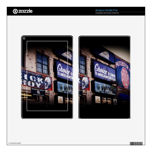 Daytona Main Street Decals For Kindle Fire