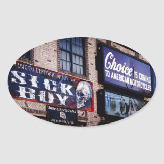 Daytona Main Street Oval Sticker