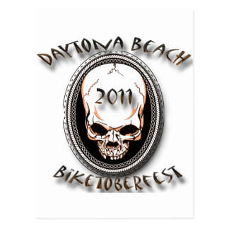 Daytona Skull for Biketoberfest 2011 Postcard