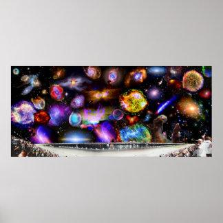 Daytona Speedway with Chandra Telescope Sky Poster