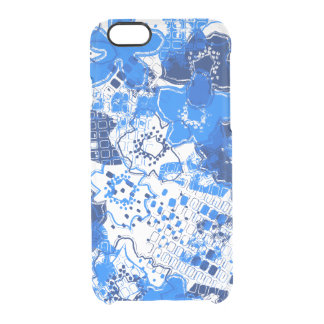 Daytrip Vintage Psychedelic Floral - Clear- Royal Clear iPhone 6/6S Case