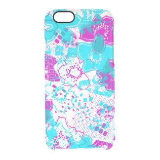 Daytrip Vintage Psychedelic Floral - Clear- Turq Clear iPhone 6/6S Case