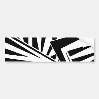 dazzle camouflage (black) bumper sticker