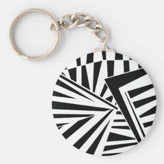 dazzle camouflage (black) keychain