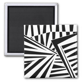 dazzle camouflage (black) magnet
