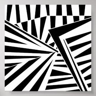 dazzle camouflage (black) poster