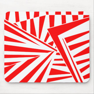 dazzle camouflage (red) mouse pad