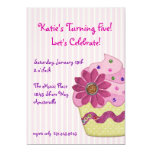 Dazzle Cupcake Invitation