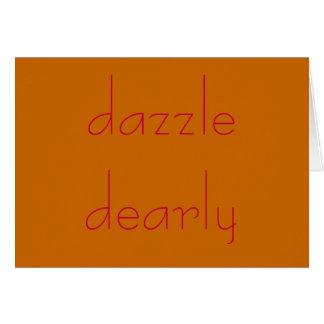 dazzle dearly card