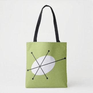 Dazzle Green all over tote black back Tote Bag