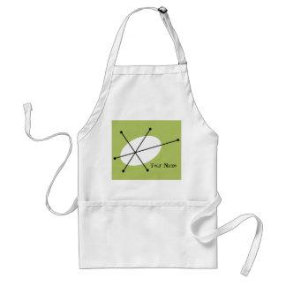Dazzle Green Name apron