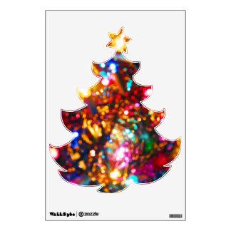 Dazzle Lights Christmas Tree wall decal