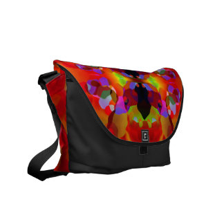 Dazzle Lush Red & Multicolored Abstract Courier Bags