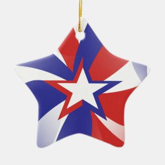 Dazzle Me Patriotic Ceramic Ornament