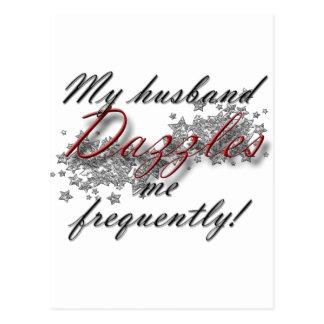 dazzled by husband postcard