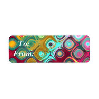 Dazzler Gift Tag Stickers Label