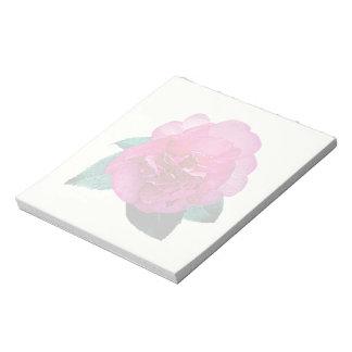 Dazzler rosado oscuro de la camelia bloc de papel