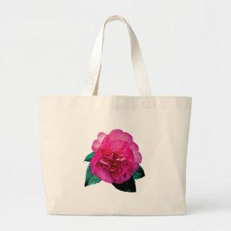 Dazzler rosado oscuro de la camelia bolsas de mano