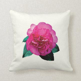 Dazzler rosado oscuro de la camelia almohadas