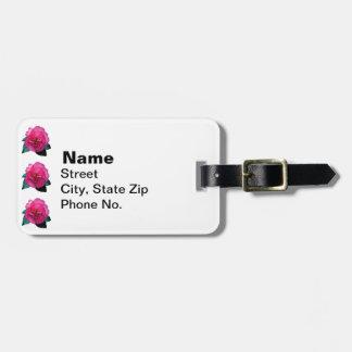 Dazzler rosado oscuro de la camelia etiquetas para maletas