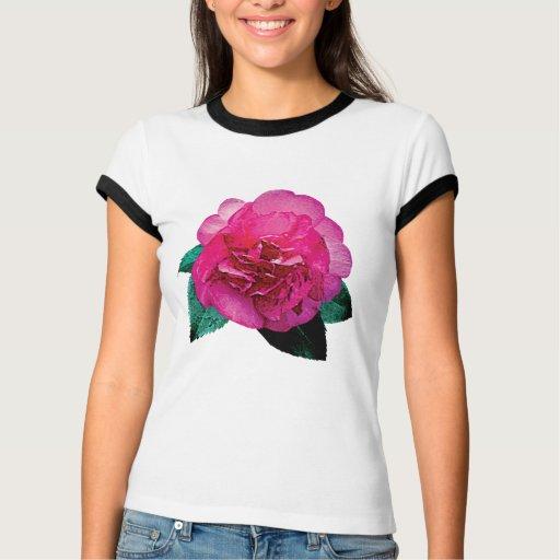 Dazzler rosado oscuro de la camelia t shirts