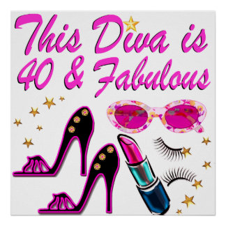DAZZLING 40TH DIVA POSTER