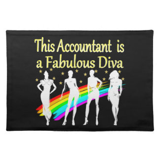 DAZZLING ACCOUNTANT DIVA DESIGN CLOTH PLACEMAT