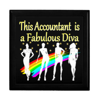 DAZZLING ACCOUNTANT DIVA DESIGN GIFT BOX